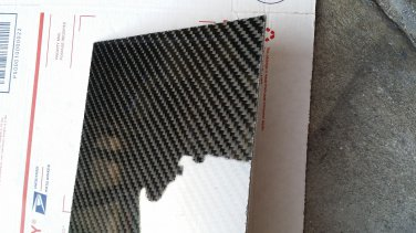 "Real Carbon Fiber Fiberglass Panel Sheet Board Plate 18""�18""�1/32"" Glossy One Side"