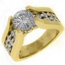 2.73CT WOMENS DIAMOND ENGAGEMENT WEDDING RING ROUND CUT TENSION SET YELLOW GOLD