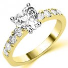 1.6 CARAT WOMENS DIAMOND ENGAGEMENT WEDDING RING HEART CUT SHAPE YELLOW GOLD