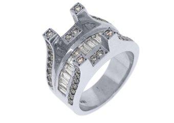 2CT WOMENS DIAMOND ENGAGEMENT RING SEMI-MOUNT TENSION SET BAGUETTE WHITE GOLD