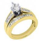 2CT LADIES MARQUISE DIAMOND ENGAGEMENT RING WEDDING BAND BRIDAL SET 14K GOLD