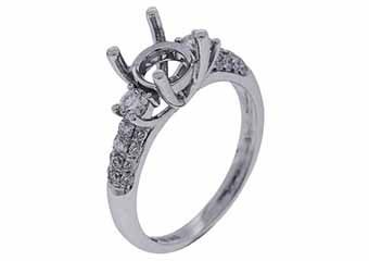.52 CARAT WOMENS DIAMOND ENGAGEMENT RING SEMI-MOUNT ROUND CUT WHITE GOLD