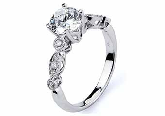 WOMENS DIAMOND ENGAGEMENT RING BRILLIANT ROUND CUT 1.20 CARAT 14KT WHITE GOLD