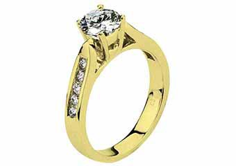 WOMENS DIAMOND ENGAGEMENT RING BRILLIANT ROUND CUT 1.26 CARAT 14KT YELLOW GOLD
