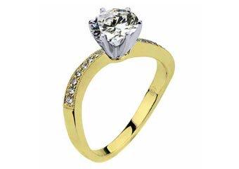WOMENS DIAMOND ENGAGEMENT RING BRILLIANT ROUND CUT 1.09 CARAT 14K YELLOW GOLD