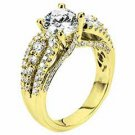WOMENS DIAMOND ENGAGEMENT WEDDING RING ROUND CUT 1.92 CARATS 18KT YELLOW GOLD