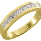 .55 CARAT WOMENS PRINCESS SQUARE CUT DIAMOND RING WEDDING BAND YELLOW GOLD