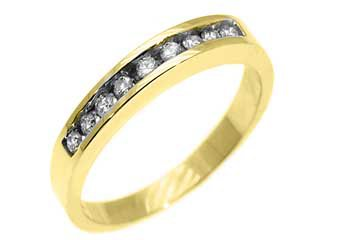 1/3 CARAT WOMENS BRILLIANT ROUND CUT DIAMOND RING WEDDING BAND YELLOW GOLD