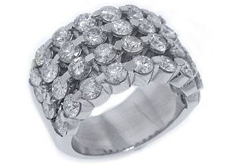 5.28 CARAT WOMENS BRILLIANT ROUND CUT DIAMOND RING WEDDING BAND WHITE GOLD