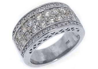 2.02 CARAT WOMENS BRILLIANT ROUND CUT DIAMOND RING WEDDING BAND WHITE GOLD