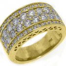 2.02 CARAT WOMENS BRILLIANT ROUND CUT DIAMOND RING WEDDING BAND YELLOW GOLD