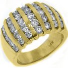 2.08 CARAT WOMENS BRILLIANT ROUND CUT DIAMOND RING WEDDING BAND YELLOW GOLD