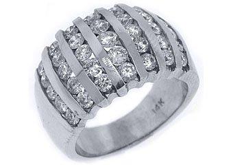 2.08 CARAT WOMENS BRILLIANT ROUND CUT DIAMOND RING WEDDING BAND WHITE GOLD