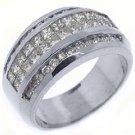1.6CT WOMENS PRINCESS SQUARE CUT INVISIBLE DIAMOND RING WEDDING BAND WHITE GOLD