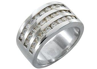 1.33 CARAT WOMENS BRILLIANT ROUND CUT DIAMOND WEDDING BAND RING WHITE GOLD