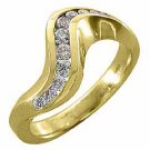 1/2 CARAT WOMENS BRILLIANT ROUND CUT SWIRL DIAMOND RING WEDDING BAND YELLOW GOLD