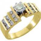 1 CARAT WOMENS DIAMOND ENGAGEMENT WEDDING RING BRILLIANT ROUND CUT YELLOW GOLD