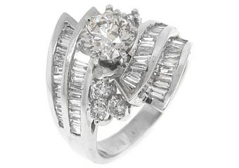 WOMENS 3.28CT BRILLIANT ROUND DIAMOND ENGAGEMENT RING