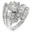 WOMENS 3.28CT BRILLIANT ROUND DIAMOND ENGAGEMENT RING