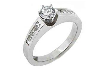 1.2 CARAT WOMENS DIAMOND ENGAGEMENT WEDDING RING ROUND PRINCESS CUT WHITE GOLD