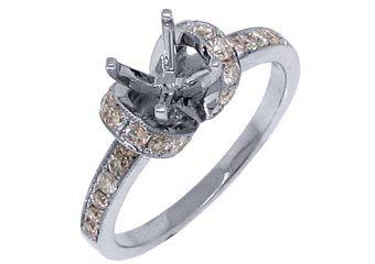 .69 CARAT WOMENS DIAMOND ENGAGEMENT RING SEMI-MOUNT ROUND CUT WHITE  GOLD