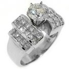 3 CARAT WOMENS DIAMOND ENGAGEMENT RING ROUND PRINCESS CUT INVISIBLE WHITE GOLD