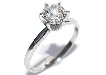 1 CARAT WOMENS SOLITAIRE BRILLIANT ROUND DIAMOND ENGAGEMENT RING WHITE GOLD