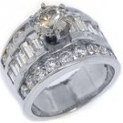 3.6 CARAT WOMENS DIAMOND ENGAGEMENT WEDDING RING ROUND BAGUETTE CUT WHITE GOLD