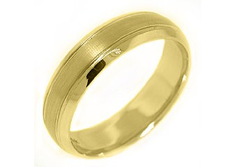 MENS WEDDING BAND ENGAGEMENT RING 14KT YELLOW GOLD BRUSHED SAND FINISH 6mm