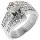 2.68 CARAT WOMENS DIAMOND ENGAGEMENT WEDDING RING ROUND PRINCESS CUT WHITE GOLD