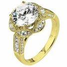 WOMENS DIAMOND ENGAGEMENT HALO RING ROUND CUT 1.83 CARAT 18K YELLOW GOLD