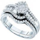 WOMENS DIAMOND ENGAGEMENT RING WEDDING BAND BRIDAL SET ROUND CUT .73 CARAT