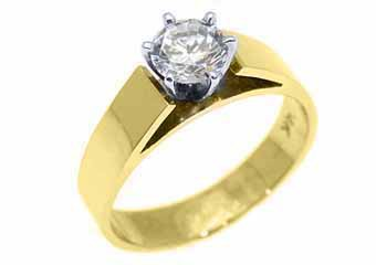 .60 CARAT WOMENS SOLITAIRE BRILLIANT ROUND DIAMOND ENGAGEMENT RING YELLOW GOLD