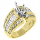 1.62 CARAT WOMENS DIAMOND ENGAGEMENT RING SEMI-MOUNT MARQUISE CUT YELLOW GOLD
