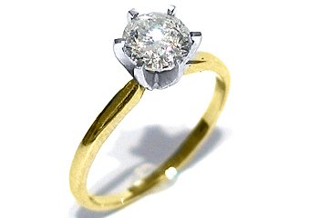 .87CT WOMENS SOLITAIRE BRILLIANT ROUND DIAMOND ENGAGEMENT RING YELLOW GOLD SI1/I