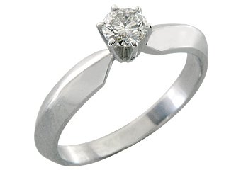 1/2 CARAT WOMENS SOLITAIRE BRILLIANT ROUND DIAMOND ENGAGEMENT RING WHITE GOLD