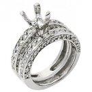 1.81 CARAT WOMENS DIAMOND ENGAGEMENT RING SEMI-MOUNT SET ROUND CUT WHITE GOLD