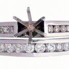 .55 CARAT WOMENS DIAMOND ENGAGEMENT RING SEMI-MOUNT SET ROUND CUT WHITE GOLD