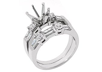 1.26 CARAT WOMENS DIAMOND ENGAGEMENT RING SEMI-MOUNT SET ROUND CUT WHITE GOLD