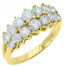 1.7 CARAT WOMENS BRILLIANT ROUND CUT DIAMOND RING WEDDING BAND 14KT YELLOW GOLD