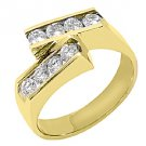 WOMENS 4/5 CARAT DIAMOND RING WEDDING BAND BRILLIANT ROUND CUT 14KT YELLOW GOLD