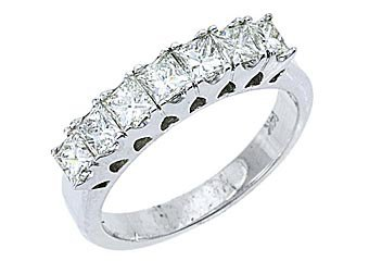 1.25 CARAT WOMENS PRINCESS SQUARE CUT DIAMOND RING WEDDING BAND WHITE GOLD
