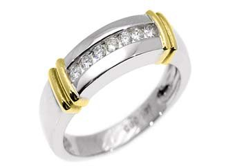 WOMENS 1/3 CARAT BRILLIANT ROUND DIAMOND RING WEDDING BAND TWO TONE WHITE GOLD
