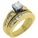2.25CT WOMENS DIAMOND ENGAGEMENT RING WEDDING BAND BRIDAL SET ROUND YELLOW GOLD