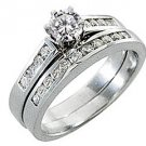 1.25 CARAT WOMENS DIAMOND ENGAGEMENT RING WEDDING BAND BRIDAL SET ROUND CUT