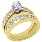 2.15 CARAT WOMENS DIAMOND ENGAGEMENT RING WEDDING BAND BRIDAL SET ROUND CUT