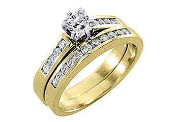 1.25 CARAT WOMENS DIAMOND ENGAGEMENT RING WEDDING BAND BRIDAL SET PRINCESS CUT
