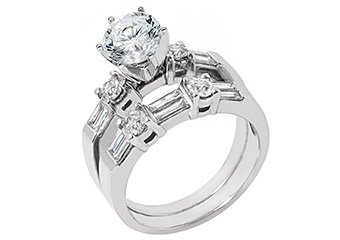1.76CT WOMENS DIAMOND ENGAGEMENT RING WEDDING BAND BRIDAL SET ROUND WHITE GOLD