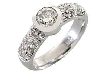1.3 CARAT WOMENS DIAMOND ENGAGEMENT WEDDING RING ROUND CUT BEZEL WHITE GOLD