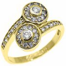 3/5 CARAT WOMENS BRILLIANT ROUND CUT DIAMOND ENGAGEMENT RING 14K YELLOW GOLD